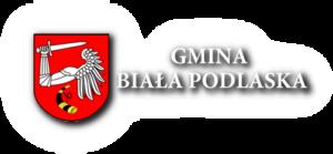 Herb Gminy Biała Podlaska wraz z napisem Gmina Biała Podlaska