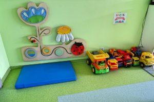 Zabawki w sali przedszkolnej