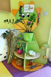 Kącik ozdobny w sali przedszkolnej